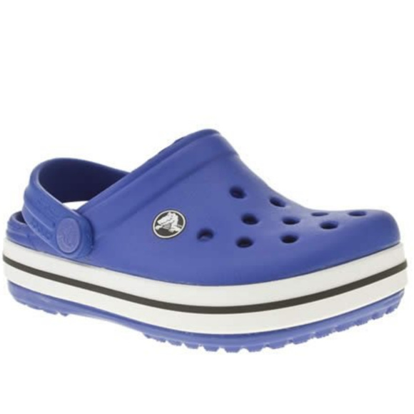 b3bf654f1b CROCS Shoes | Kids Crocband Clog 4t Blue White | Poshmark